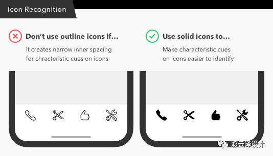 面型图标vs线型图标,该如何正确使用?