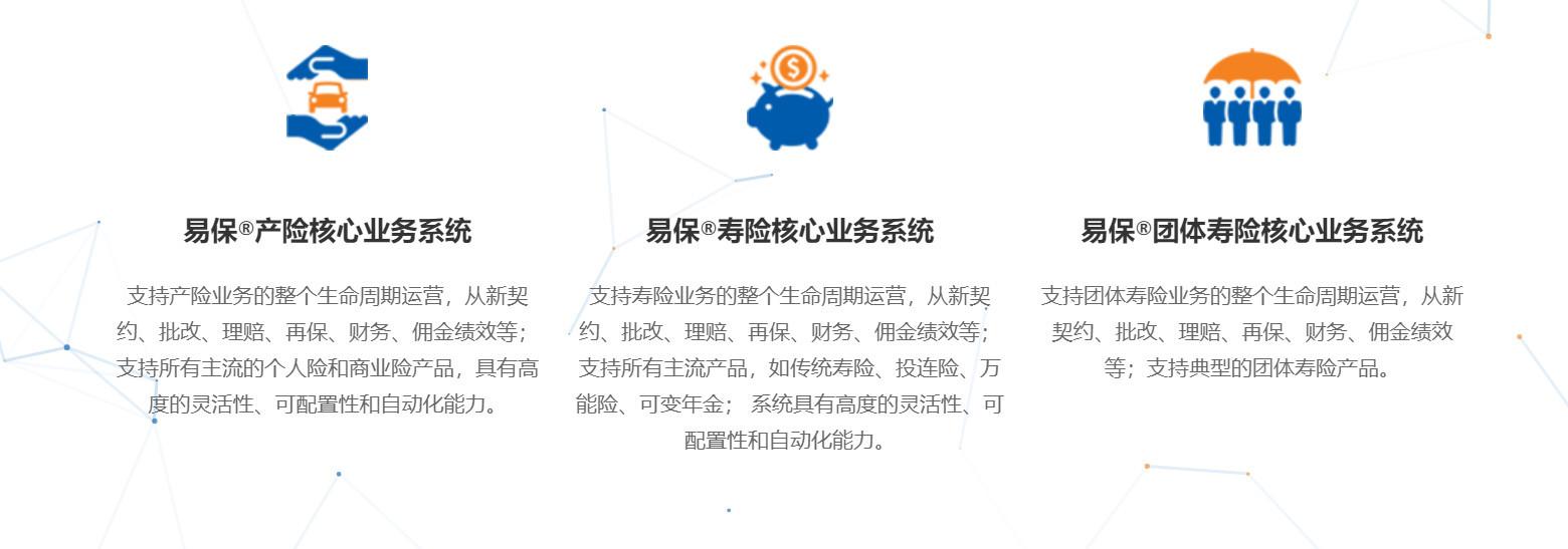 图:易保的核心系统套件
