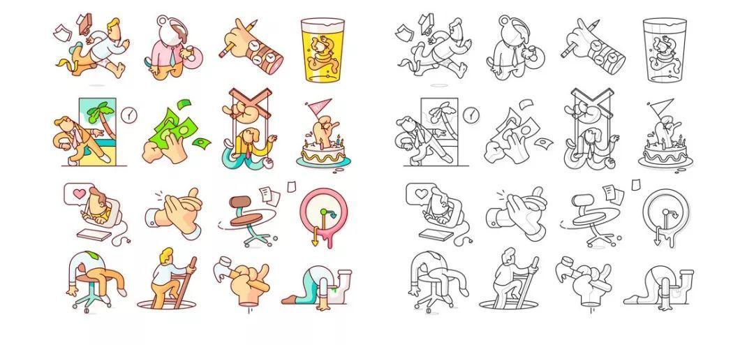 跳槽進大廠,這些設計技法必須會 | 技法系列第二彈-卡通簡筆風格