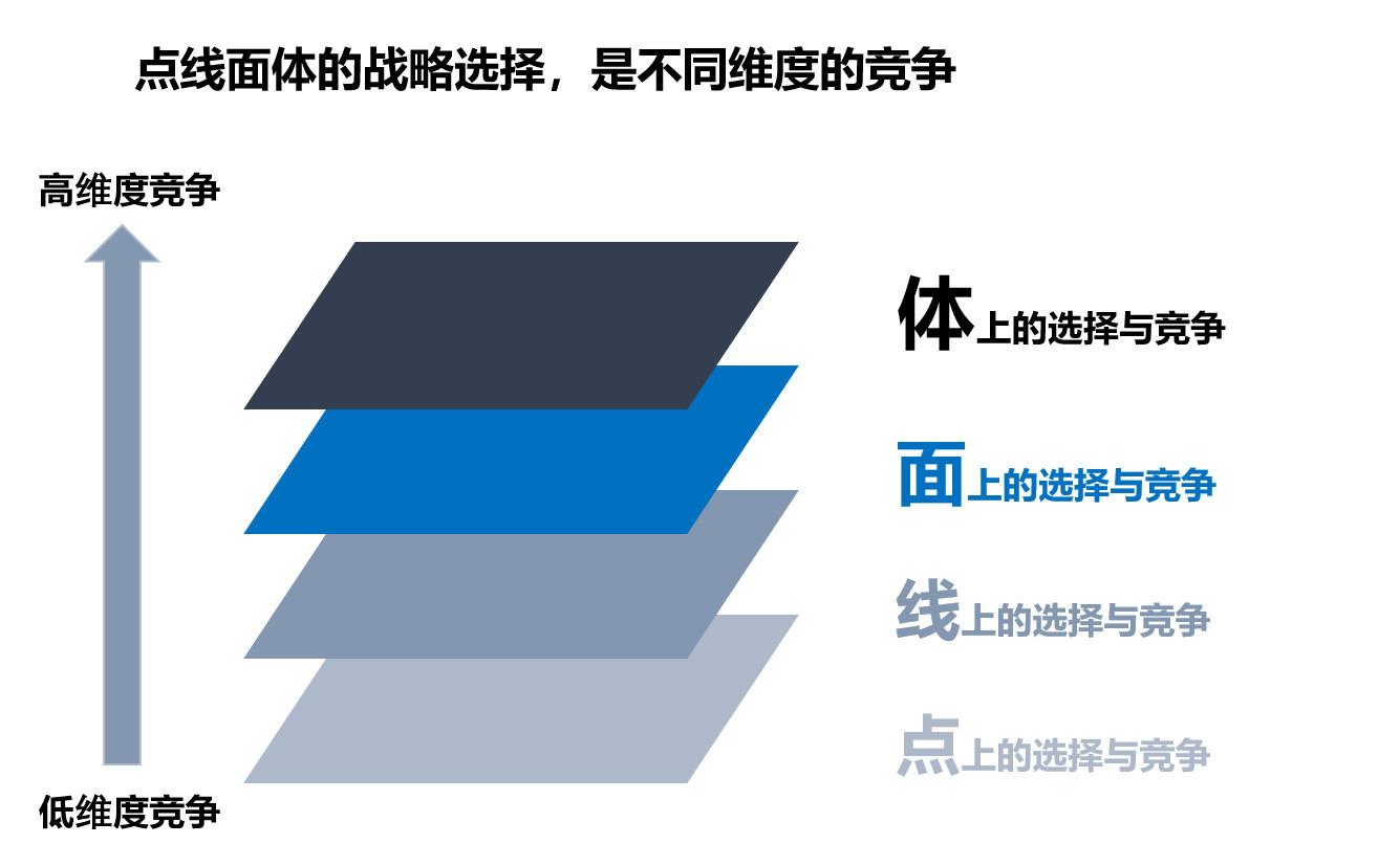 图13:点线面体竞争维度 来源:李有龙《保险业生态战略系列培训课程》