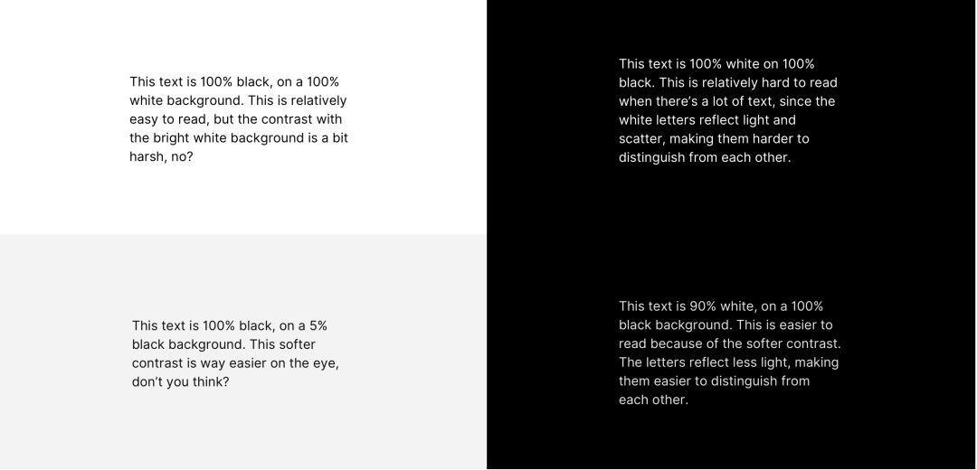 暗黑模式设计原则浅析