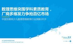 2019中国互联网少儿数理思维教育行业洞察