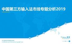 2019中国第三方输入法市场专题分析