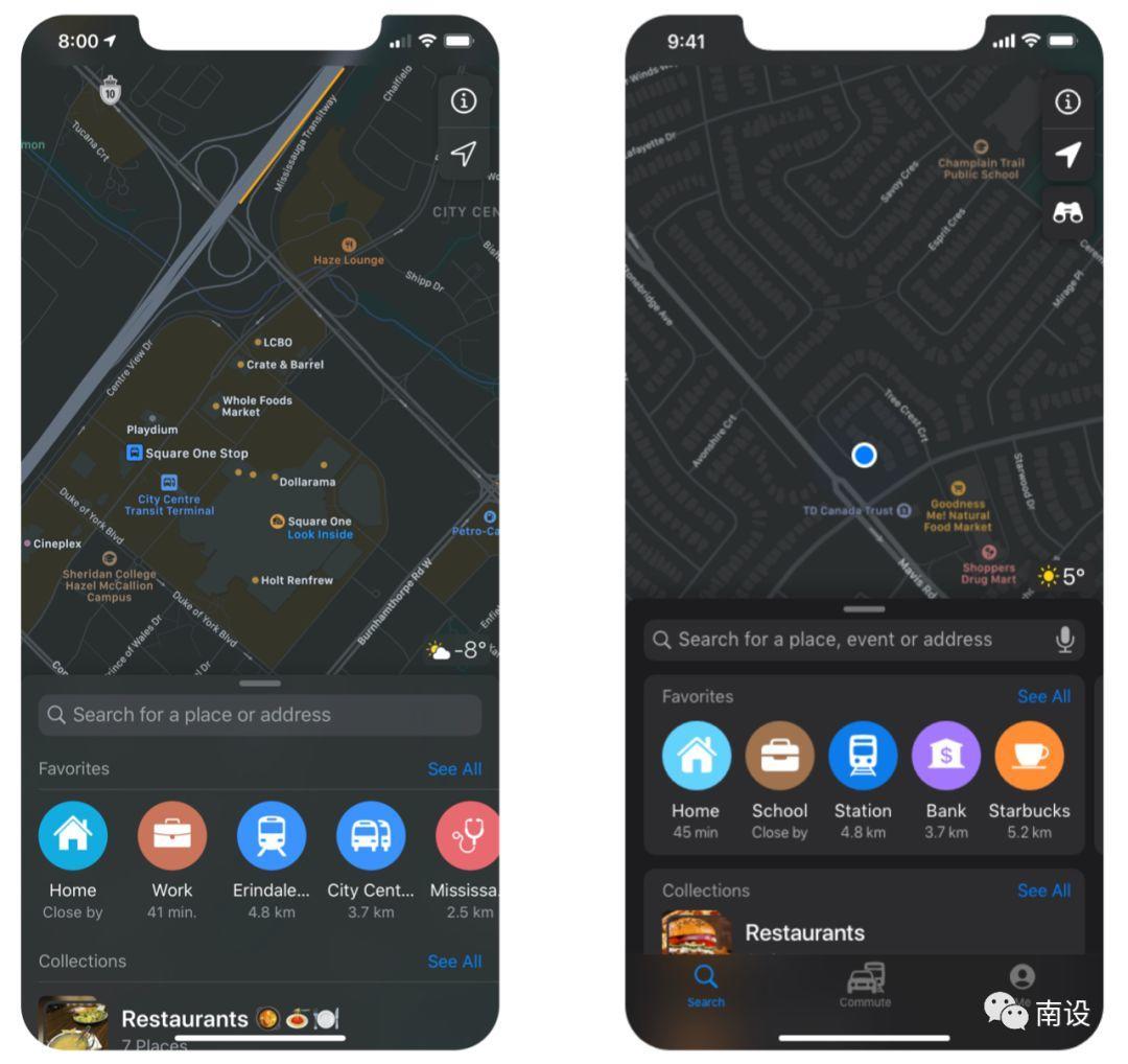 苹果应用地图重设计