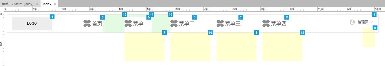 顶部导航栏(鼠标移入显示子栏目,移出隐藏)
