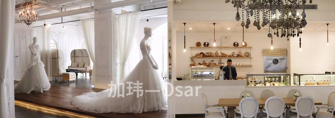 一家婚纱店在开下午茶
