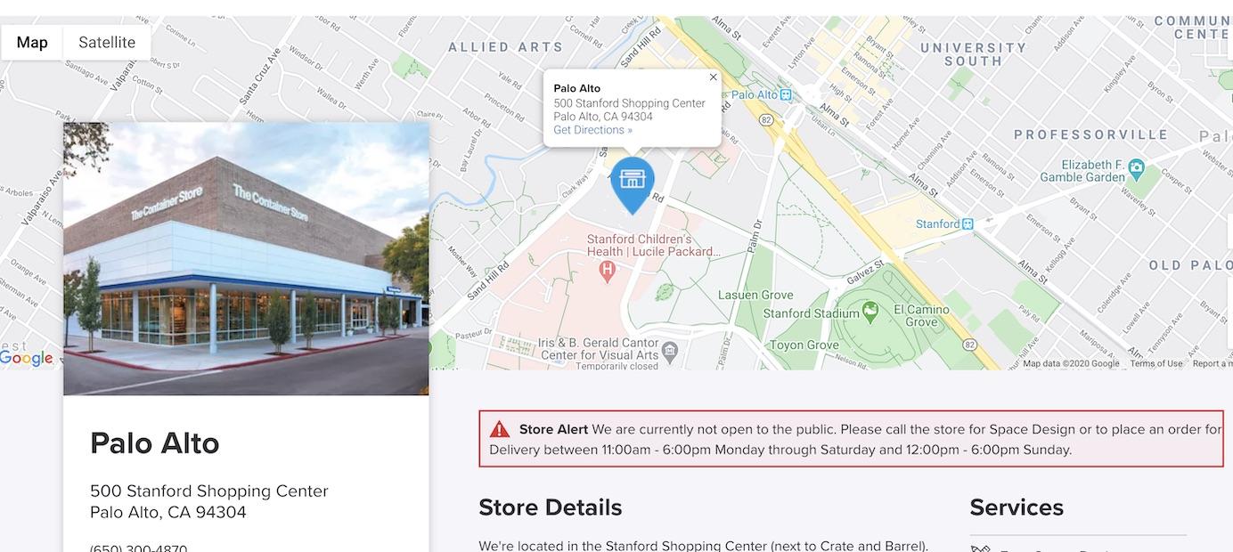集装箱商店详细页面横幅商店已关闭