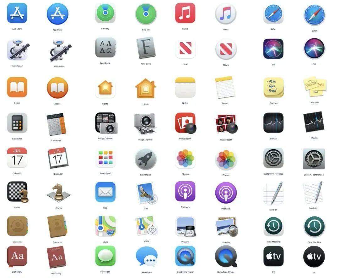 苹果 macOS Big Sur 系统对于新拟态风格的探索
