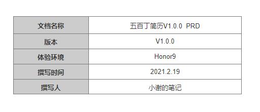 "PRD:倒推""五百丁简历""App产品需求文档插图(1)"